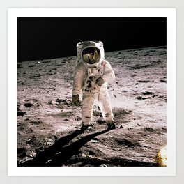 The Moon Landing Art Print