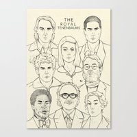 the royal tenenbaums Canvas Prints featuring The Royal Tenenbaums by Magdalena Pankiewicz