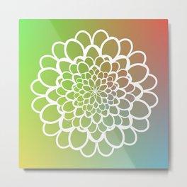 Mandala on a Rainbow Metal Print