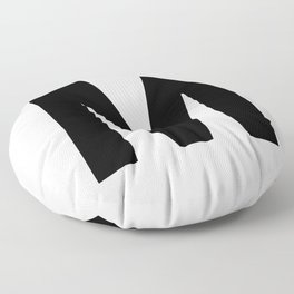 Letter M (Black & White) Floor Pillow
