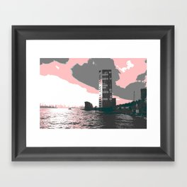 hamburg harbour Framed Art Print