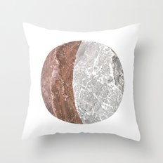 Planetary Bodies - Crescent Rock Throw Pillow