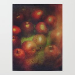 Once Upon a Time a Red Apple Poster