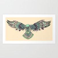 hawk Art Prints featuring Hawk by Diana
