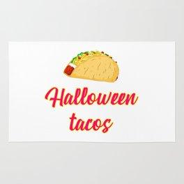 Halloween Tacos Fiesta Motivational Design Rug