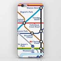 london map iPhone & iPod Skins featuring London Map by ialbert