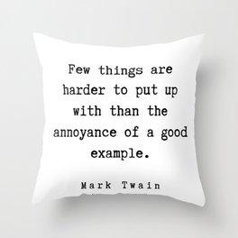 61 | Mark Twain Quotes | 190730 Throw Pillow