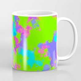 90s Neon Paint Splatter Coffee Mug