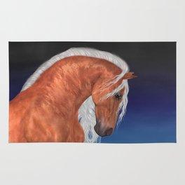 Golden Stallion .. fantasy horse Rug