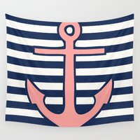 anchor Wall Tapestries featuring Anchor by dani