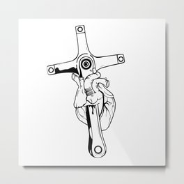 Heart Of Cycling  Metal Print