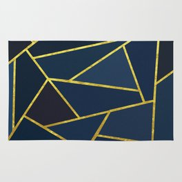 The Color of Navy And Gold Rug