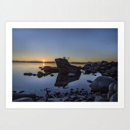 Bonsai Rock at Sunset Art Print