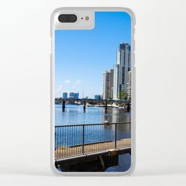 Surfers Paradise Nerang River Clear iPhone Case