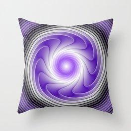 The Power Of Purple, Modern Fractal Art Graphic Throw Pillow