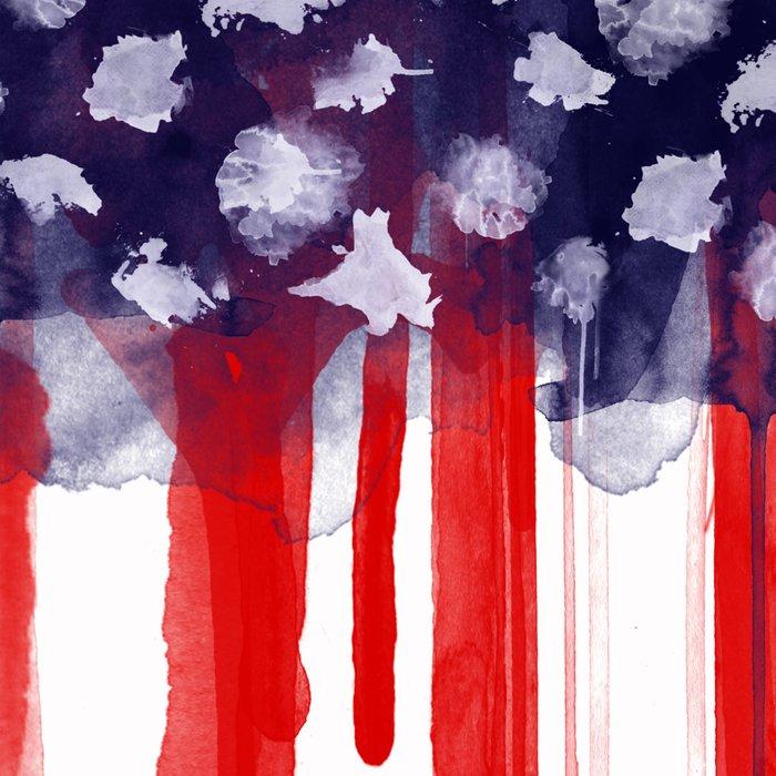 American Spatter Flag Leggings