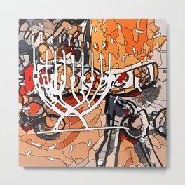 Hanukkah lights Metal Print