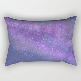 Deep Purple Milky Way Stars Rectangular Pillow
