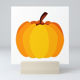 Orange Pumpkin Mini Art Print