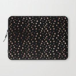 Black & Rose Gold Star Pattern Laptop Sleeve