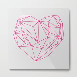 Heart Graphic Neon Version Metal Print