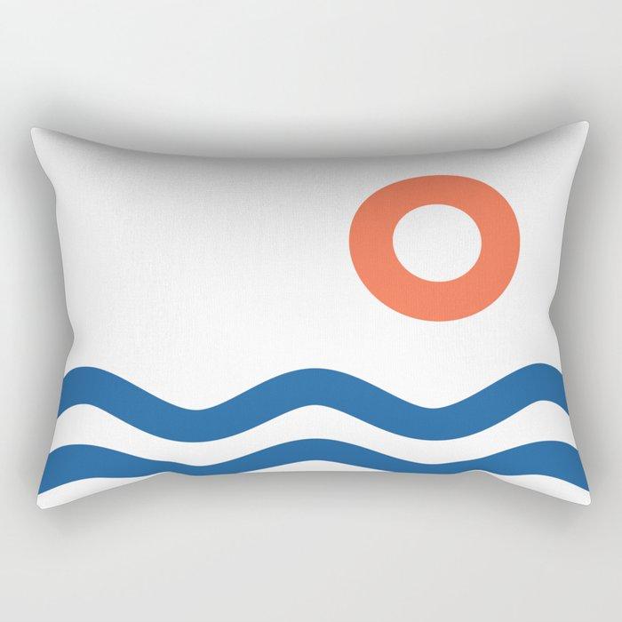 Nautical 02 Seascape Rectangular Pillow
