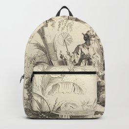 Grisaille Chinoiserie Backpack