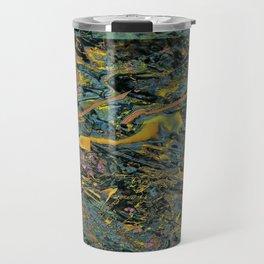 Splatter Paint Glitch Art Travel Mug
