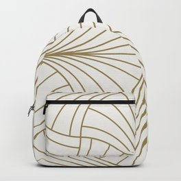Diamond Series Inter Wave Gold on White Backpack