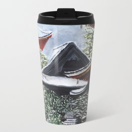 Temple in the Snow Metal Travel Mug