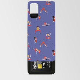 Yoga Girls blue lines Android Card Case