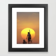 Rey of Sun Framed Art Print