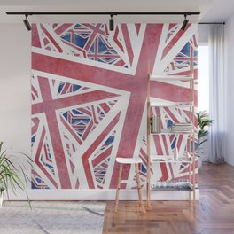 Union Jack Collage Wall Mural