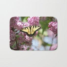 Swallowtail butterfly On Lilacs Bath Mat