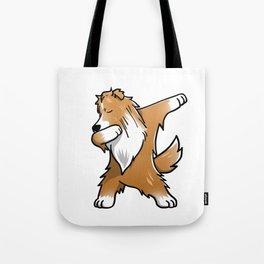 Funny Dabbing Shetland Sheepdog Dog Dab Dance Tote Bag