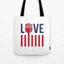 Love not hate Tote Bag