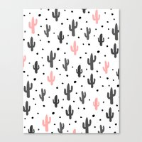 cactus Canvas Prints featuring Cactus  by Make-Ready