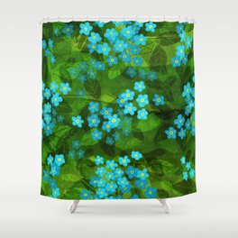 Forget me not Shower Curtain