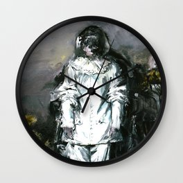 Jilles, the Sad Versailles Harlequin Wall Clock
