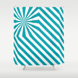 Stripes explosion - Blue Shower Curtain