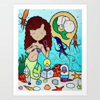 The Ankh Girl Art Print