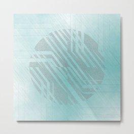 blue centre Metal Print