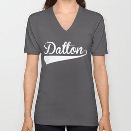 DALTON Baseball Vintage Retro Font Unisex V-Neck