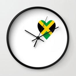Jamaica love Wall Clock