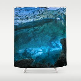The underground lake Shower Curtain