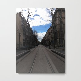 tram tracks in Marseille (daytime) Metal Print