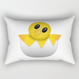 Hatching baby chick Emoji Rectangular Pillow
