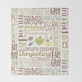 Teapography Throw Blanket