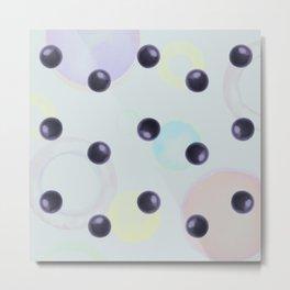 Plums Pattern Metal Print