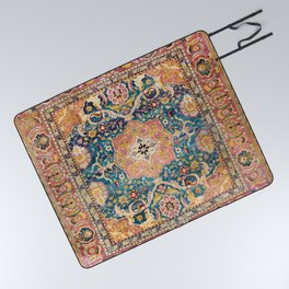 Amritsar Punjab North Indian Rug Print Picnic Blanket